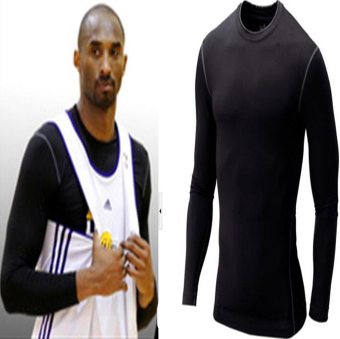 Autumn and winter sports straitest long-sleeve T-shirt high-elastic fitness clothing shaper basketball clothing Men(China (Mainland))