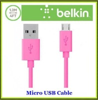 50pcs/lot Belkin F2CU012bt04 4 Color 4FT 1.2M 5 Pin Micro USB 2.0 Data Sync Charger Cable For Nokia Samsung S3