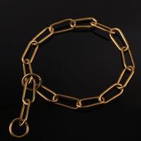 Free Shipping Brass P Chain Durable Large Dog Ring Collar For Husky Golden Retriever Samoyed Shepherd Dog