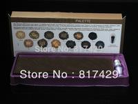 Free Shipping Pro NAKE Makeup 12 Colors Eyeshadow Palette NK1 Eye Shadow with Primer Make up Brush Set Gift