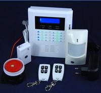 Diy Home GSM&PSTN dual network  LCD burglar alarm systems