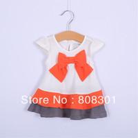 Fashion Girls Dresses  Next Baby Girls Kids cotton bowknot Dress children clothing summer autumn new