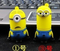 10pcs/lot U Disk pen drive cartoon Minions 1gb-32gb yellow man usb flash drive flash memory stick pendrive yellow people