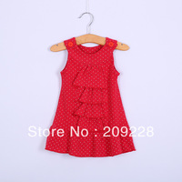 Free shipping baby girl flower dress Kids Summer short-sleeve dress Children clothes Clothing