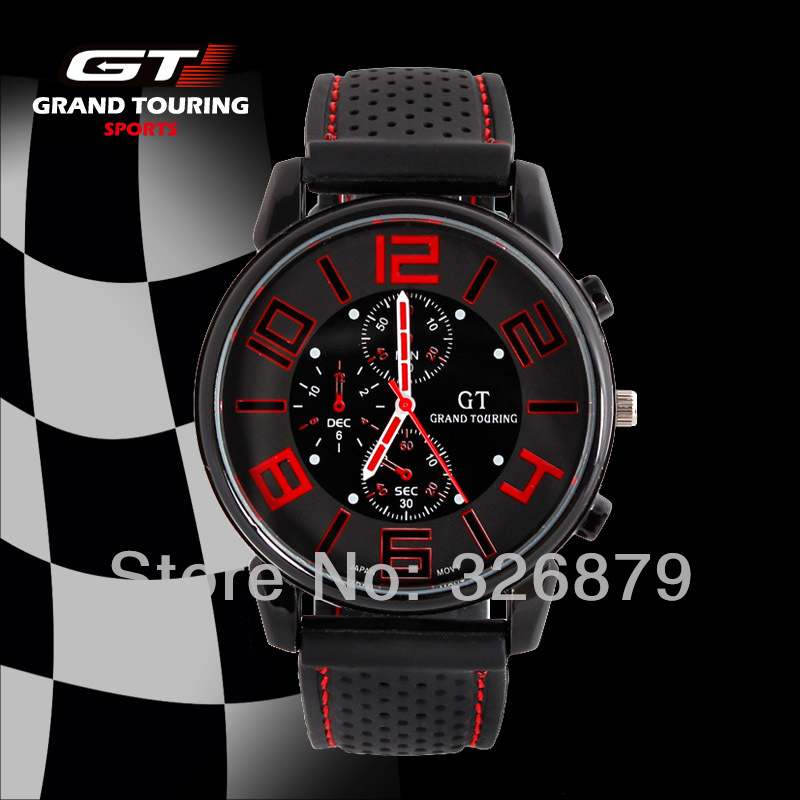 Cool Men Watch Gift Military Racing F1 Watch Fashion Designer GT Grand Touring Sports Running Quartz Brand Watch Hot Sales 2014(China (Mainland))