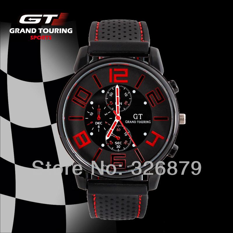 Cool Men Watch Gift Military Racing F1 Watch Fashion Designer GT Grand Touring Sports Running Quartz Brand Watch Hot Sales 2014(China (Mainland))