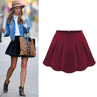 Aisabella fashion slim waist bust skirt short skirt women's 2013 thickening of the lotus leaf pleated umbrella all-match