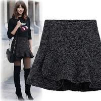 Fashion ruffle aisabella woolen bust skirt autumn and winter slim hip 2013 fish tail skirt short thickening