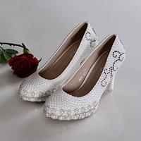 Pearl shoes wedding shoes single shoes ultra high heels rhinestone shoes princess performance shoes