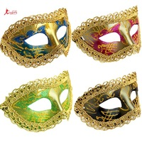 Wholesale price Christmas mask masquerade masks mask big laciness half face mask  with cheap price