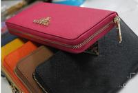 HOT NEW wholesale! 3 color style fashion Women/men style leather  khaki/brown plaid ddesign cards /money wallet/purse