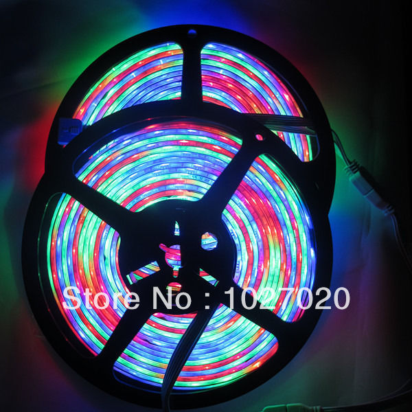 2x 5M 270 LEDs 54led/m Dream Color Horse Race RGB 5050 flexible Light strip & IR(China (Mainland))