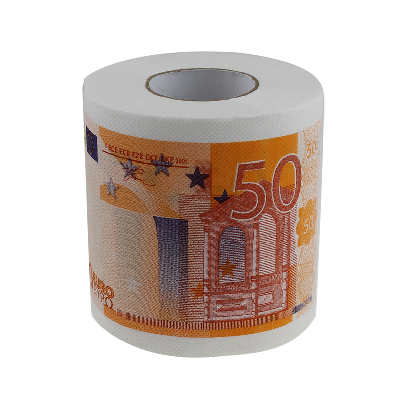 Prontpage personality multicolour money print toilet rolls 50 bumpered toilet paper carton rolls novelty households(China (Mainland))