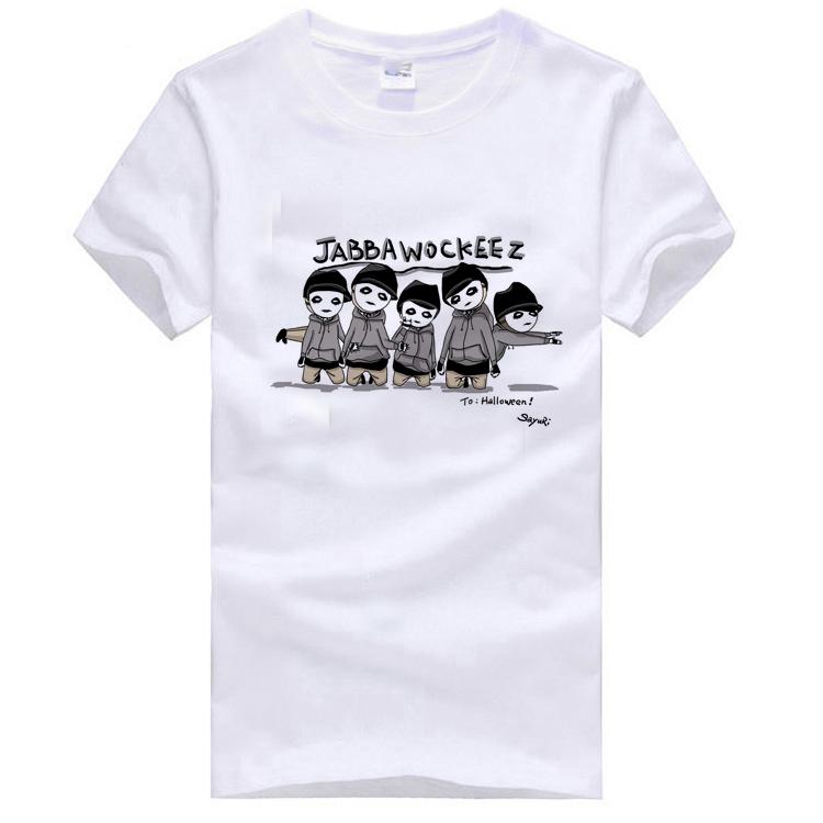 Camisa básica Roddy doughface jabbawockeez hip-hop plus size roupas T-shirt de manga curta masculina(China (Mainland))