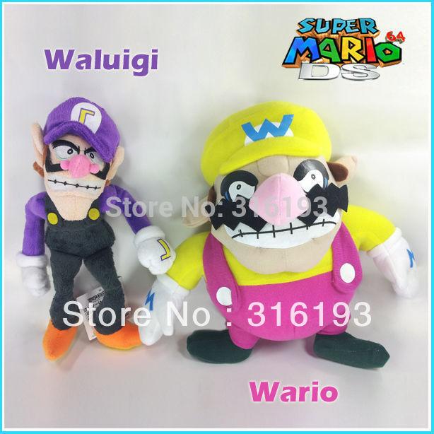 "Drop shipping 2pcs X Nintendo Super Mario Bros Wario & Waluigi Plush Soft Toy Stuffed Animal 11""(China (Mainland))"