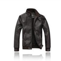 Free shipping leather jacket men long coat sheepskin outdoor jacket avirex leather jackets jaqueta couromens faux fur coats