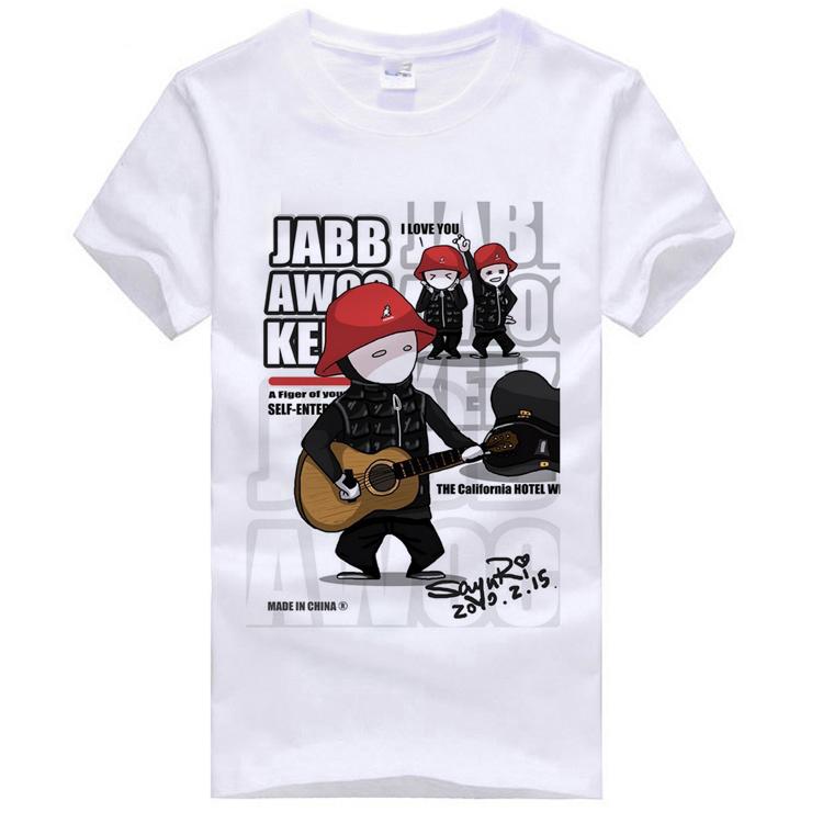Roddy doughface jabbawockeez camisa básica plus size roupas de manga curta T-shirt dos homens(China (Mainland))