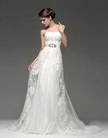 White/Ivory Lace Beaded Bridal Gown Wedding Dress Custom Size