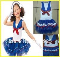 Kids Girls Dress 2-10Y fashion Lovely Denim Blue Beautiful Lace princess dress/Navy Dress