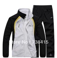 free shipping 2014 NEW Brand   Men Sport Suit Polyester Tracksuit Sportswear Suit  Free Shipping 3 COLOR L-4XL  LNI011