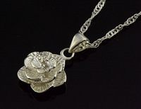 new  925 sliver necklaces with flower shaped 44 cm chain trendy design for wedding nice packing gifts drop shipping