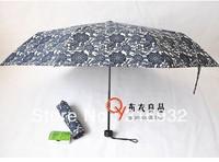 Black flower women umbrellas rain Manual painting umbrella Umbrella, fashionable, 1 pc Free shipping