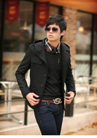 man men's  autumn winter  woolen coat jacket outwear