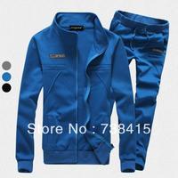 sports suit men Male casual fashion cardigan top men's clothing sweatshirt teenage sportswear set