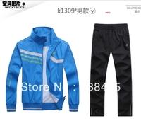 2013 Brand T90 men sportswear coat jacket spring autumn sports tracksuit leisure jogging sport suit hoodies Sweatshirts set