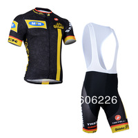 Free Shipping!!CYCLING SHORTS JERSEY+BIB SHORTS 2014 ITALIA  LOOK Cycling Kit /Jersey/Pants Bike Clothes SETS BLACK SIZE:XS-4XL