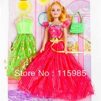 Hot Fashion toys Popular beauty dolls plastic girl gift baby dolls toys pretend play Free shipping