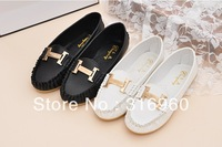 Fall 2014 british style vintage Lady's flats soft outsole women's shoes massage bottom loafers gommini for women HY205