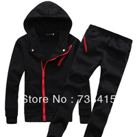 free shipping  Brand Men Cotton Leisure Sports Suits Hoodie Men's long-sleeved 100% cotton spring and autumn sports suit set