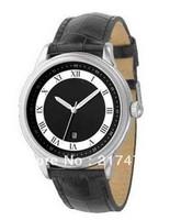 Free shipping+ wholesale! men's watch AR0564 black leather Quartz movement. Water Resistant.