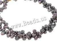 Free shipping!!!Natural Freshwater Pearl Necklace,2013 fashion free shipping, brass spring ring clasp, 2-strand, purple, 5-12mm