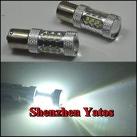 2pcs CREE 80W 1156 S25 P21W BA15S LED Backup Light 12V 24V car Reversing light bulb car lighting 1year warranty