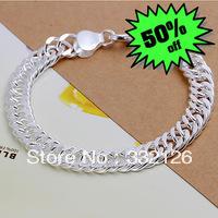 JH102 Lowest price Wholesale 925 sterling silver bracelet & bangle jewelry, 925 silver new jewelry 10mm Bracelet