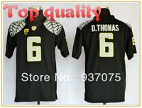 Cheap Youth Oregon Ducks #6 De'Anthony Thomas Black Color,Embroidery logos,NCAA College Football Kids Jerseys,Child Boys Jersey