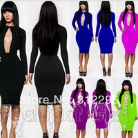 Free shipping Fashion B4020 Open Bust Sexy Brand Dress Club Dress Celebrity Bandage Bodycon Dress For Women