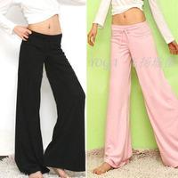 Free shipping New arrival 2014 100% cotton Wide leg pants Culottes pouncing Yoga Pants home fitness loose pants Wholesale