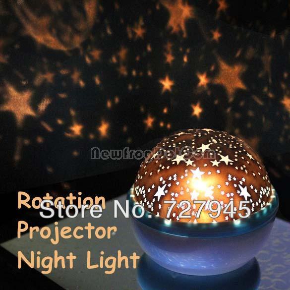 Rotation Star Sky Kid Luminous Light Lamp Night Projector Romantic Decoration Free shipping(China (Mainland))
