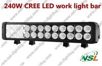 20'' Double Row 20400LM 12V24V SPOT/FLOOD/COMBO 240W CREE LED work light Auto 4x4 SUV car Fog Driving Roof Waterproof light bar