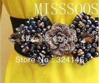 New summer Handmade Quality elegance glass Crystal decorative Ms. luxury girdle,women belt wholesale,Free shipping