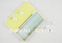 50pcs PREPARED PROFESSIONAL MICROSCOPE GLASS SLIDES SPECIMEN IN PLASTIC BOX