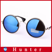 New Arrival 2014 Fashion Vintage Round Women Sunglasses Metal Frame Mirror Lens Love Retro Sunglasses Women Shades ESVT027