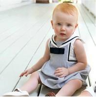 Free shipping wholesale 5pcs/lot 2014 new arrive children spring summer clothing korean baby girl's stripe dress