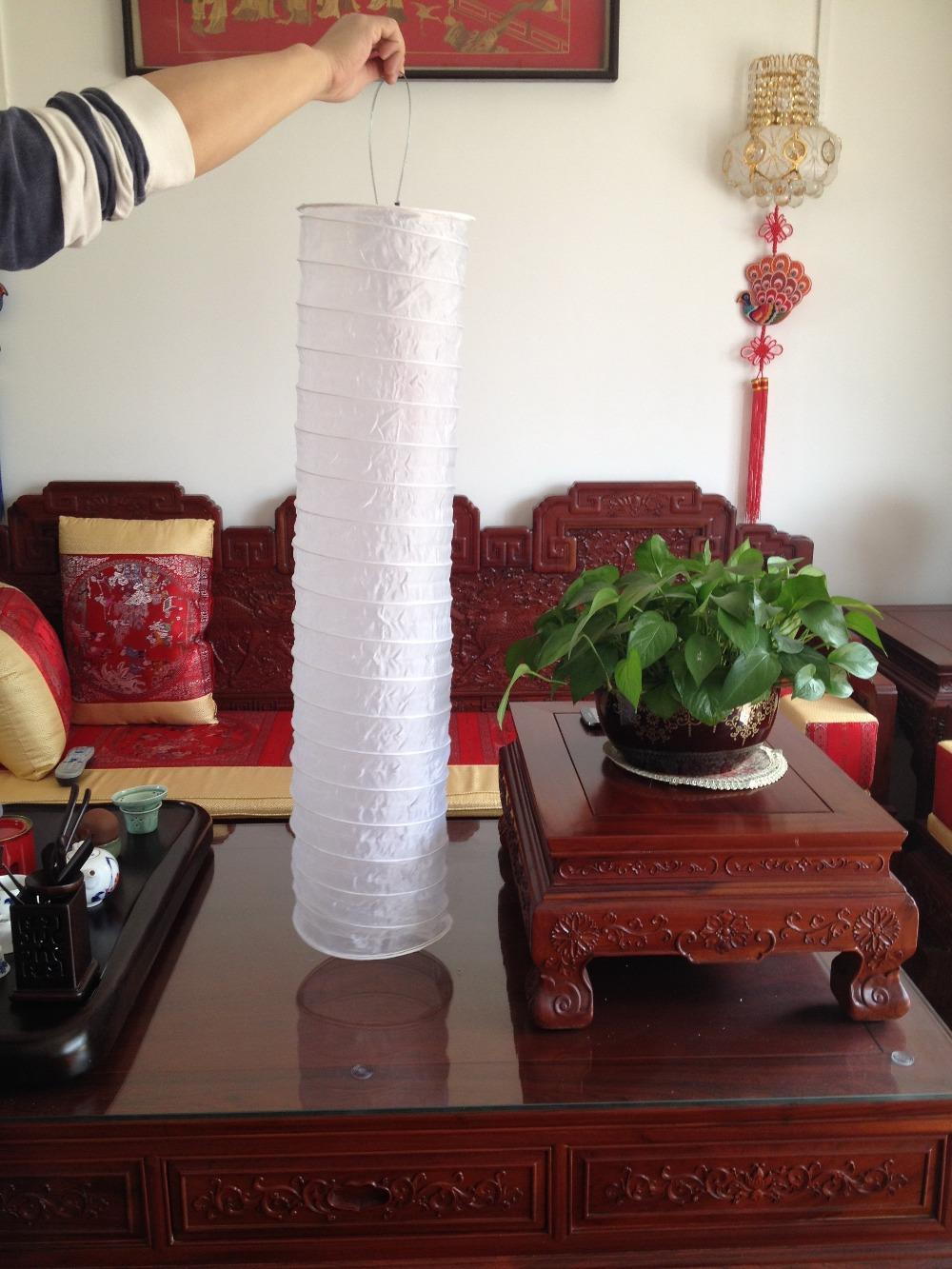 1m cylindrical cloth lantern solar lantern lantern light lanterns led lanterns(China (Mainland))