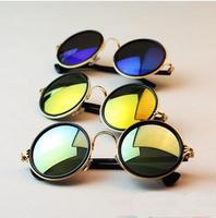Retro men/women round box sunglasses colorful lense eye accessories glasses SG55