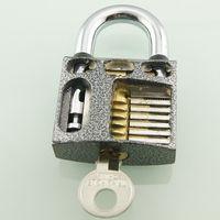 Locksmith Beginner Cutaway inside view open chambers of Practice Padlock Lock training Skill Pick Freeshipping