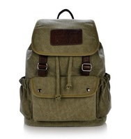 2014 NEW Designer Fashion Korean Style Canvas Men Travel Backpacks Brand School Bags Casual Outdoor Sport Backpack Free Shipping